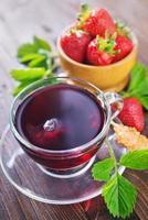 thé à la fraise photo