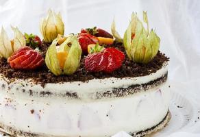 génoise aux fraises photo