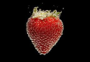 bulles de fraises photo