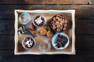 nourriture sur le plateau photo