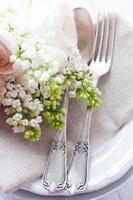 table à manger élégante de mariage photo