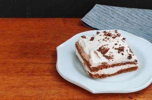 gâteau au café meringué à la crème photo