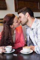 joli couple à une date photo