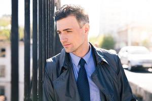 portrait, songeur, homme affaires photo