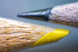 macrophotographie de crayons