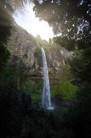 Coucher du soleil à Bridal Veil Falls, Nouvelle-Zélande photo