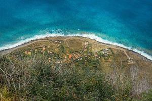 vue aérienne du bord de mer