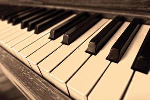 touches de piano blanches et noires