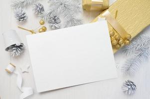 maquette de carte de voeux de Noël photo