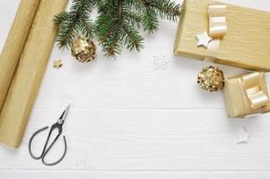 décoration d'arbre de Noël maquette photo
