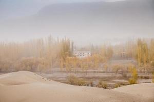 vue de rêve du vent dans le désert photo