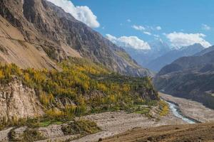 vue paysage des montagnes photo