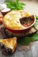 orties à tarte, riz et poisson en conserve
