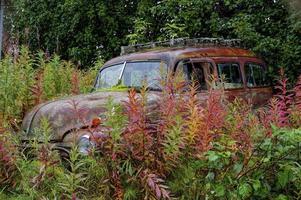 ancien wagon à panneaux chevy hdr photo