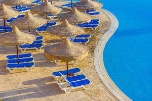 la piscine, les parasols photo