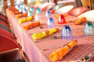 table mise en place photo