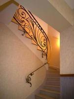 rampe d'escalier en laiton