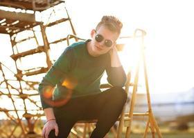 gars de style hipster. homme de mode photo