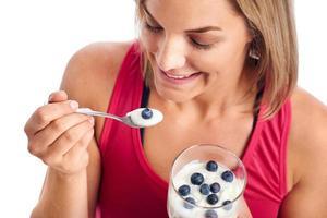 femme en forme de saine alimentation photo