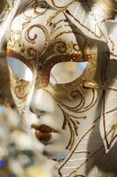 masque de carnaval vénitien gros plan