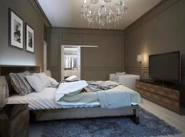 intérieur de la chambre dans un style moderne photo