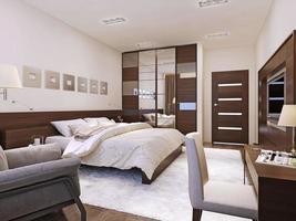 style avant-gardiste intérieur de chambre à coucher photo
