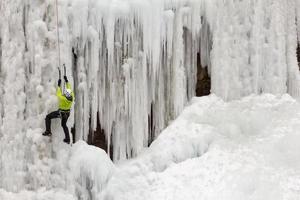 grimpeur sur glace photo