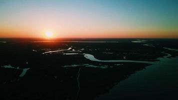 photo aérienne de l'île de james