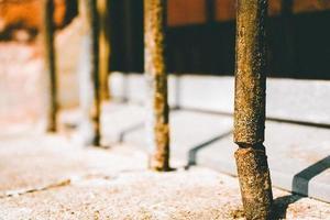 clôture en fer rouillé