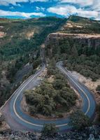 Vue aérienne de la crête de Rowena, Oregon