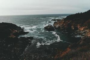 vue aérienne de l'océan photo