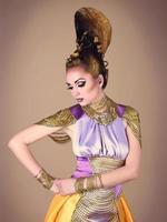 portrait, de, belle femme, dans, égyptien, style photo