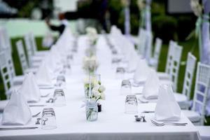 configuration de la table à dîner photo