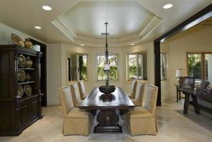 salle à manger moderne à la maison photo