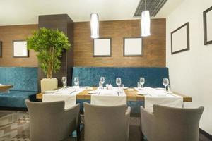 intérieur élégant du restaurant photo