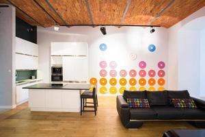 décoration de couleur sur le mur photo