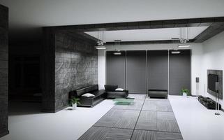 rendu 3d intérieur du salon photo