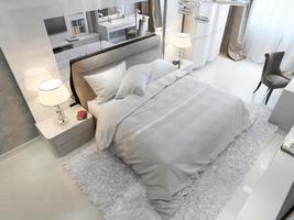 chambre de style moderne photo