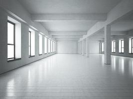 espace loft béton blanc photo