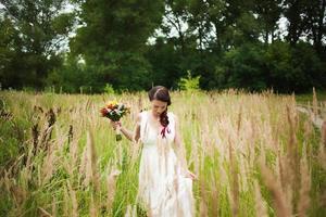 belle mariée le jour du mariage photo