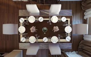 salle à manger de style classique photo