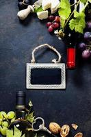 vin, raisin et fromage photo