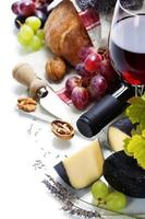 vin, raisin et fromage photo