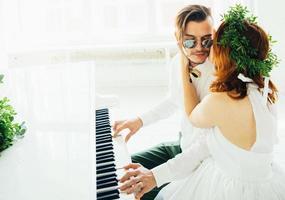 mariage avec piano photo