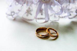 bagues de fiançailles de mariage photo