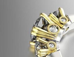 bague de fiançailles avec diamant. fond de bijoux photo