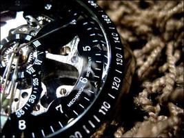 montre-bracelet sur fond textil photo