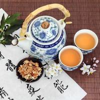 thé aux fleurs de jasmin photo