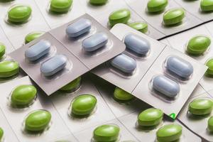 la pilule de couleur photo