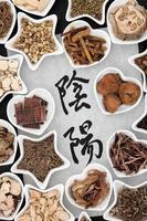 herbes yin et yang photo